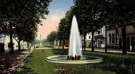 Ostwall-Krefeld-Springbrunnen-Wasserfontaine