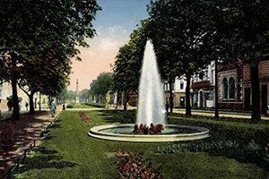 Ostwall Krefeld Springbrunnen Wasserfontaine