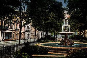 Springbrunnen Ostwall